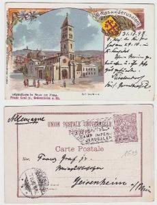 63232 Ak Gruß aus Jerusalem evangelische Erlöserkirche Kaiserreise 1898