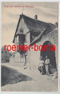 81188 Ak Gruß aus Kiedrich im Rheingau um 1920