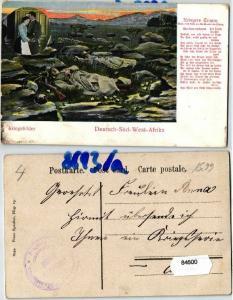84600 Feldpost Ak Deutsch Süd West Afrika Kriegsbilder um 1907