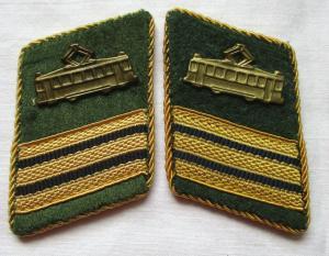 DDR Kragenspiegel VEB Verkehrsbetriebe Straßenbahn Dienststellenleiter (133912)