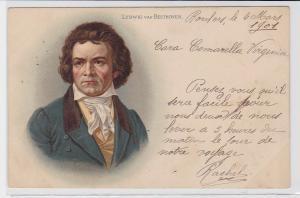 87271 Künstler AK Ludwig van Beethoven Portrait 1901