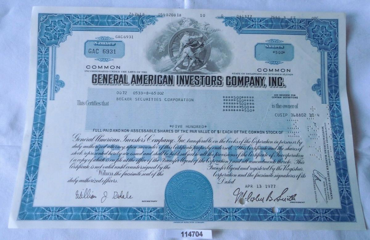 General American Investors Company Inc