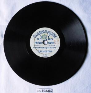 103442 Mini Schellackplatte Clausophon