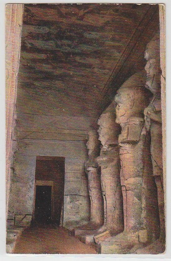 70473 Ak Ägypten Interior of the Temple Abu Simpel 1914 0
