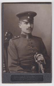 59800 Kabinett Foto Soldat Regiment 181 mit Säbel Chemnitz