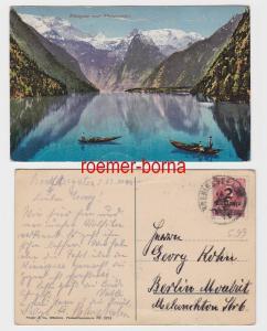 82542 Ak Königsee mit Briefmarke 2 Milliarden Mark mit Stempel Königsee 1923