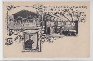 89515 Mehrbild Ak Gruß aus Wildhaus Geburtsort von Ulr.Zwingli um 1910