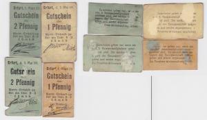 4 Banknoten Wareneinkaufs GmbH Erfurt 1918/1920 (123727)