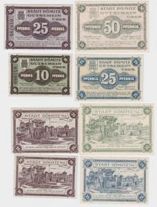 4 Banknoten Notgeld Sparkasse der Stadt Dömitz 1.6.1920 (121994)