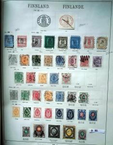 Seltene Briefmarkensammlung Finnland 1856 bis 1935 fast komplett