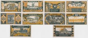 5 Banknoten Notgeld Gemeinde Husbyholz o.D. (1921) (121765)