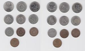 10 DDR Gedenk Münzen 5, 10 und 20 Mark (133223)