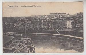 70368 Ak Saarbrücken Krankenhaus und Winterberg um 1910