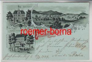 77811 Ak Gruss aus Grossbreitenbach Thüringer Wald Gasthaus Thür. Hof 1899