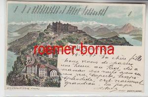 73944 Ak Lithographie Gruß vom Rigi Schweiz 1897