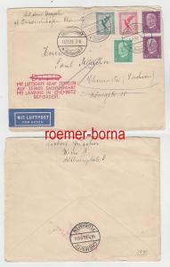 79622 Zeppelin Brief Sachsenfahrt mit Landung in Chemnitz 16.11.1930