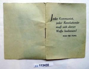 DDR Propaganda Heft mit Spruch von Mao Tse Tung (113430)