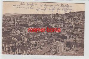 72082 Ak Saloniki das Viertel von St.Sophie 1917