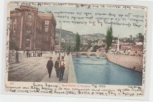 67080 Ak Quai-Partie in Sarajevo Bosnien und Herzegowina 1904