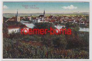 85446 Ak Crossen an der Oder Krosno Odrzańskie Blick von Wilhelmshöhe um 1910