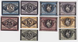 5 Banknoten Notgeld Kreisausschuß Schweinitz Herzberg a.E. 1920 (121006)
