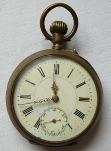 Elegante Taschenuhr Silber Louis Japy / Japy Freres Le Fleuron JFC (101686)
