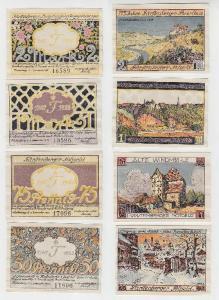 4 Banknoten Notgeld Fürstenberg 1921 (115556)