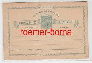 75152 seltene Ganzsachen Postkarte Mocambique Mosambik 30 Reis grün vor 1900