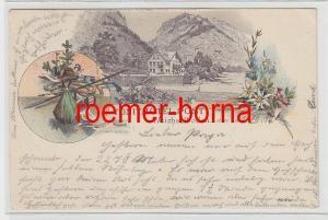 74116 Ak Lithografie Toni´s Hotel Post Weichselboden 1897