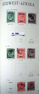 Kleine Briefmarkensammlung Südwestafrika ab 1923