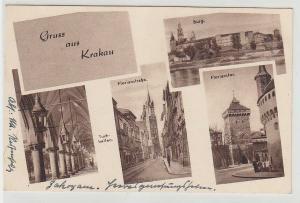 67938 Mehrbild Feldpost Ak Gruß aus Krakau 1941