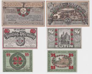 3 Banknoten Notgeld Stadt Eutin Dezember 1920 (121844)