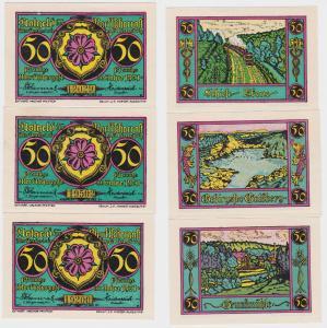 3 Banknoten Notgeld Marktgemeinde Marktschorgast 1921 (120899)