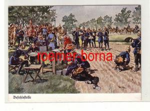 81243 Ak Befehlsstelle mit Husaren um 1930