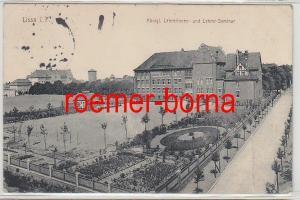 81082 Ak Lissa i.P. königliches Lehrerinnen- und Lehrer Seminar 1915