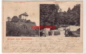 68120 Mehrbild Ak Gruss aus Altstätten Burg und Waldpark Schweiz 1900