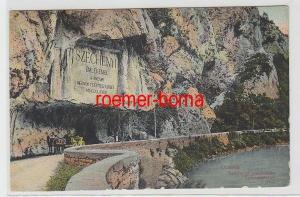 70118 Ak Orsova Rumänien Szechenyi emlektabin Szechenyitafel um 1910