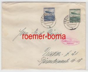 79630 Zeppelin Brief mit Luftschiff LZ 129 befördert 1936