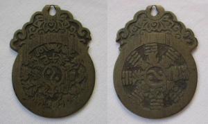 Amulett China Horoskop mit Trageaufsatz Tierkreiszeichen, Trigramme (118063)