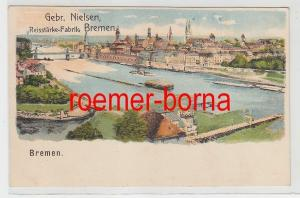 75637 Ak Lithografie Bremen Gebr. Nielsen Reisstärke-Fabrik um 1900
