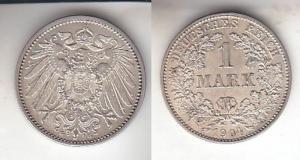 1 Mark Silber Münze Kaiserreich 1904 G, Jäger 17  (111288)