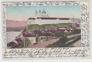 67992 Ak Melk an der Donau mit Stift Melk 1900