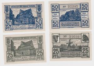 25 & 50 Pfennig Banknoten Notgeld städtische Sparkasse zu Wilster 1920 (121405)