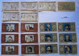 18 Banknoten Notgeld Kreis Herrschaft Schmalkalden 1921 (116636)