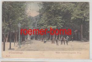 79866 Ak Gravenhage Oude Scheveninsche Weg um 1900
