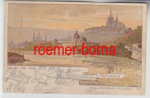74020 Ak Lithographie Gruss aus Prag Hradschin 1899