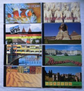 8 Mappen UNO Briefmarken Welterbestätten 1998 bis 2010  (111961)