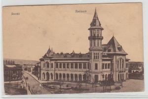 68416 Feldpost Ak Buzau Rumänien Rathaus 1917