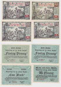 4 Banknoten Notgeld Stadt Itzehoe 2.8.1920 (122385)