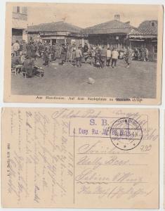 69584 Feldpost Ak Mazedonien auf dem Marktplatze zu Monastir 1917